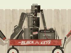 The Black Keys concert poster, 2011