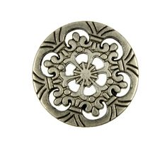 Openwork Snowflake Six Holes Nickel Silver Metal Buttons - 20mm - 3/4 inch