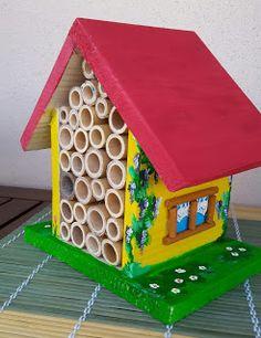 Bug Hotel, Bugs, Outdoor Decor, House, Home Decor, Spring, Ladybug, Decoration Home, Home