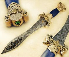 A Kharsala Kirpan dagger enlayed with gold and various jewels