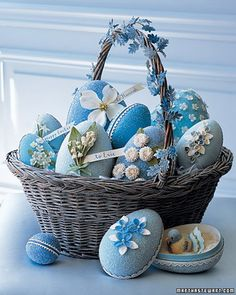 This basket is filled with Martha Stewart glitter eggs. Description from pinterest.com. I searched for this on bing.com/images