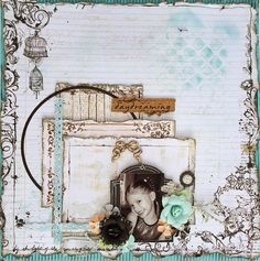 Project by designer Rae Moses using the October 2014 kit collection, Treasured Yesterdays.   swirlydoos.com