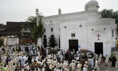 Peshawar-All Saints Church after the suicide blasts (file photo)