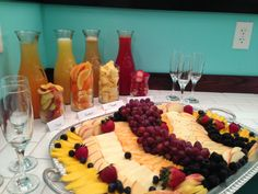 Mimosa bar for Bridal Suite at The Wedding Garden.  The perfect way to start the day.