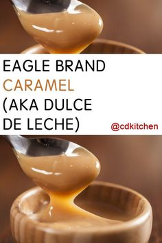 This classic one-ingredient caramel can be used as the perfect topping for any dessert, as the filling for a pie or tart, or eaten directly to satisfy your sugary cravings. Carmel Sweetened Condensed Milk, Caramel Sauce Condensed Milk, Condensed Milk Recipes, Recipe With Eagle Brand Milk, Eagle Brand Recipes, Eagle Brand Condensed Milk, Milk Dessert, Caramel Recipes, Caramel Deserts