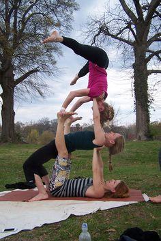 multi-sensory exercises - sense of balance, prayer for each other