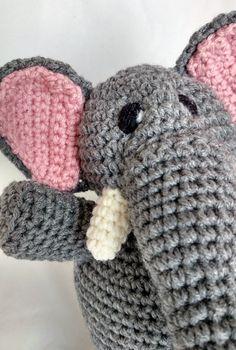 Elephant by MegsMinions on Etsy #crochet #elephant