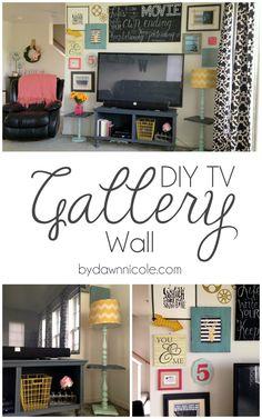 DIY TV Gallery Wall | bydawnnicole.com