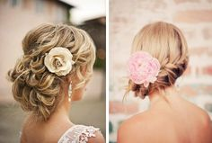 """We love flowers for the Bride's hair, they look so natural and fresh, perfect for your Wedding."