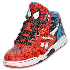 Spectacular Spiderman shoes....this beats what he currently has right now.