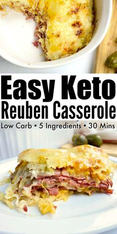 Easy Keto Reuben Casserole - Easy low carb casserole with all the Reuben fillings smothered with a homemade low carb russian dressing! Recipes for 1 Keto Reuben Casserole Low Carb Keto, Low Carb Recipes, Diet Recipes, Cooking Recipes, Healthy Recipes, Protein Recipes, Steak Recipes, Turkey Recipes, Eat Healthy