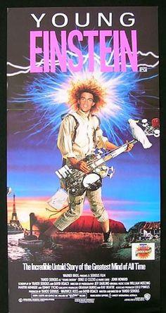 YOUNG EINSTEIN '88 Yahoo Serious ORIGINAL daybill Movie poster