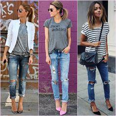 Aprenda a ficar estilosa com roupas simples!