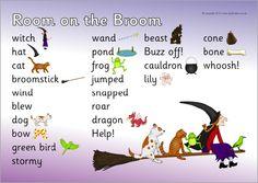 Room on the Broom word mat (SB10027) - SparkleBox