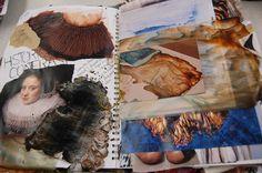 Ellisha Willis DHSFG Textiles Textiles Sketchbook, Sketchbook Pages, Sketchbook Ideas, A Level Textiles, Travel Journals, Durham, Sketchbooks, Art Girl, Mushroom