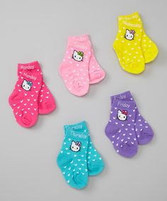 Another great find on #zulily! Hello Kitty Days of the Week Socks Set by Hello Kitty #zulilyfinds