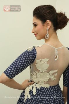 Cat Eyed Sindhi Beauty, Indian Film Actress Tamanna Bhatia's Latest Photo Gallery of 130 Stills in Blue Designer Fancy Dress...