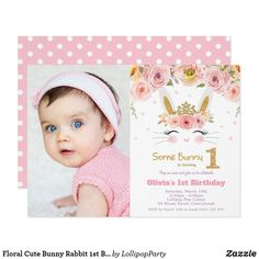 Shop Pastel Pink Deer Baby Girl Shower Watercolor Peony Invitation created by BlueBunnyStudio. Personalize it with photos & text or purchase as is! Photo Invitations, Pink Invitations, Floral Invitation, Invites, Bunny Birthday, 1st Birthday Girls, Magic Birthday, Happy Birthday, Birthday Celebration