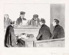 The Court is emptying to deliberate (1845)
