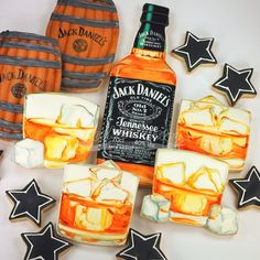 """""""For the love of #JackDaniels, ahhhh reminds me of my younger days LOL! #cookieart #celebrations #Cookievonster #DecoratedCookies #vancouver #vancity…"""""""