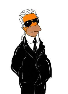 Humor Chic - Homer Simpson. Karl Lagerfeld