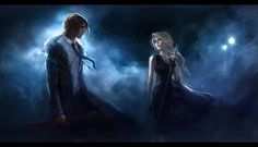Sam and Celeana Throne of glass by Sarah J Mass