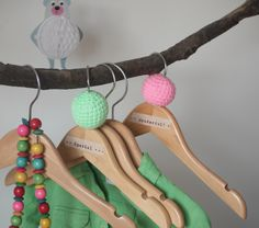 crochet hangers...and tape, for that extra special dress! beads from: 2cute2betrue