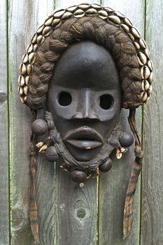 DAN, TRIBE, MASK, CARVED, WOOD, SHELLS, ROPE, WORK HAIR, BEARD, ANIMAL, TEETH, African Mask, African Art, Fossil Ivory, Bone, IVORY, COAST, LIBERIA, AFRICA, MASK, MAGIC, Akron, Ohio, Magic,