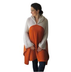 Plus Size Over Size Mohair Poncho Pelerine with Hood от afra