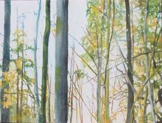 Green Watercolor Tree Painting instruction for micing green. Arborescences, watercolor on paper mounted on board, by Sandrine Pelissier Watercolor Quilt, Green Watercolor, Watercolor Trees, Watercolor Landscape, Watercolor Paintings, Original Paintings, Watercolors, Tree Paintings, Landscape Art