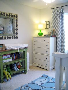 Cute baby room using mixing and matching - shows how sometimes imperfect is absolutely perfection