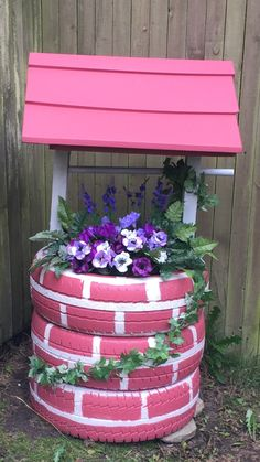 44 creative container gardening flowers ideas decorations 22 is part of Tire garden - 44 creative container gardening flowers ideas decorations 22 Related Tire Garden, Garden Yard Ideas, Diy Garden Projects, Garden Crafts, Diy Garden Decor, Garden Art, Tire Craft, Backyard Landscaping, Container Gardening