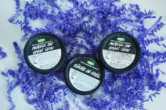Lush ended products. Face cleaners Angels on Bare Skin and Bûche de Noël