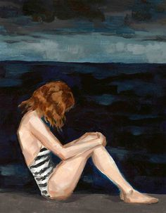 Dark Seas . 16 x 20 extra large giclee art print by ClareElsaesser, $65.00