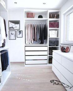 "Ikea ""Pax"" walk-in-closet - Room Decoration İdeas Bedroom Closet Design, Closet Designs, Bedroom Decor, Bedroom Ideas, Walk In Closet Ikea, Open Closets, Dream Closets, Glam Closet, Closet Wall"