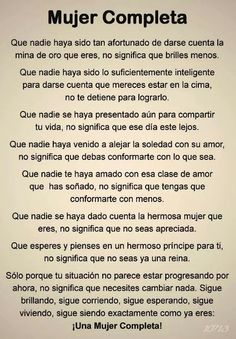 ... Mujer completa.