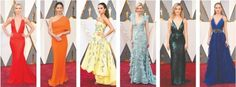 "The 2016 Oscar red carpet was really colorful, which was even more colorful that the past years. There were several different color category dresses appeared on it, which could be group into: ""White Hot"", ""The Color Purple"", ""Shades of Blue"", ""Back in Black"", ""Green with envy"", ""Pretty in Pastel"" and ""Nude illusions"". This kinds of show a trend of variation designs, designers become more and more brave to use special colors and be creative on it. Yitao Q."