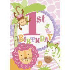 Birthday Poster Printable  1069 Pink Zoo Celebration Poster Safari Animal 1st Birthday Safari 1st Birthday Poster DIY