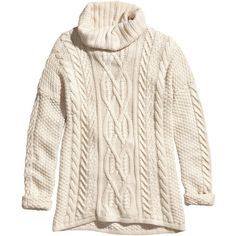 H&M Knitted polo-neck jumper ($23) ❤ liked on Polyvore featuring tops, sweaters, natural white, white cotton turtleneck, cotton turtleneck, white turtleneck sweater, turtle neck sweater and jumpers sweaters