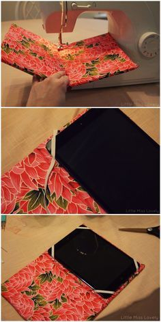 DIY iPad Case... don't have an ipad but would be great to make for a friend