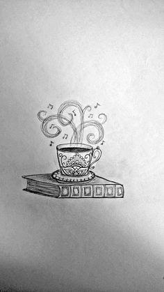 Coffee cup & book idea #3