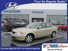 2002 Mazda Protege DX, Just Traded In, Only 103,556 miles, branded title, Great gas mileage, As-is, 4D Sedan, and 2.0L I4 SMPI DOHC. Dont bother looking at any other car! Get Hooked On Murdock Hyundai Murray! Murdock Hyundai Murray is delighted to offer this handsome 2002 Mazda Protege. This superb Mazda Protege is just waiting to bring the right owner lots of joy and happiness with years of trouble-free use.  Options: Features