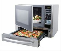 MICROWAVE-Microwave food while cooking a pizza? Can't beat that.