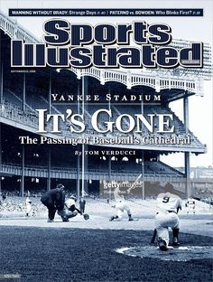 September 2008 Sports Illustrated via Getty Images Cover: Baseball: New York Yankees Mickey Mantle in action at Yankee Stadium. New York Yankees Roger Maris on deck. Bronx, NY Get premium, high resolution news photos at Getty Images New York Yankees Stadium, New York Yankees Baseball, Yankees Fan, Damn Yankees, Baseball Pitching, Basketball, Baseball Players, Baseball Field, Si Cover