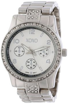 Shop XOXO Womens XO5203 Rhinestone Accent Silver-tone Bracelet Watch online at lowest price in india and purchase various collections of Casual Watches in XOXO brand at grabmore.in the best online shopping store in india