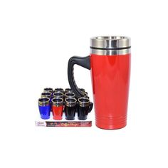 24 Units of Coffee Mug Stainless Steel with handle - Coffee Mugs Wholesale Coffee Mugs, Disposable Coffee Cups, Stainless Steel Thermos, Cute Coffee Mugs, Finding Yourself, Handle, The Unit, Tableware, Dinnerware