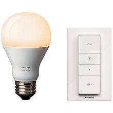 Buy Philips Hue White LED Wireless Dimming Kit Online at johnlewis.com