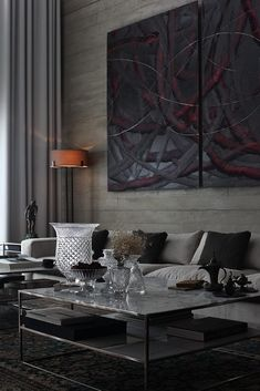 Stylish Dark-Toned Interior in Istanbul Designed by Tanju Özelgin - http://freshome.com/2014/03/27/enchanting-dark-toned-modern-interior-tanju-ozelgin/