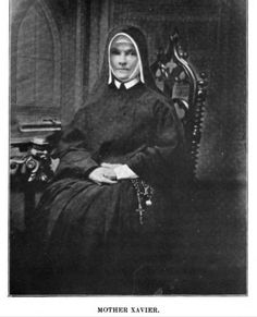 Mother Xavier (pronounced Zavier) Ross established the Sisters of Charity of Leavenworth in 1858.