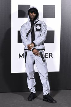 Skepta attends 'Moncler Genius' Presentation at MFW wearing Moncler See Urban Fashion, Mens Fashion, Fashion Outfits, Female Fashion, Grime Artists, Leather Jackets For Sale, Cyberpunk Fashion, Next Clothes, Designer Streetwear